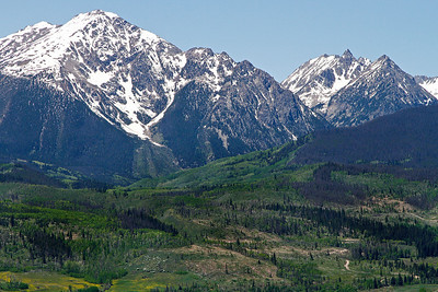 Gore Range from Blue River Highway