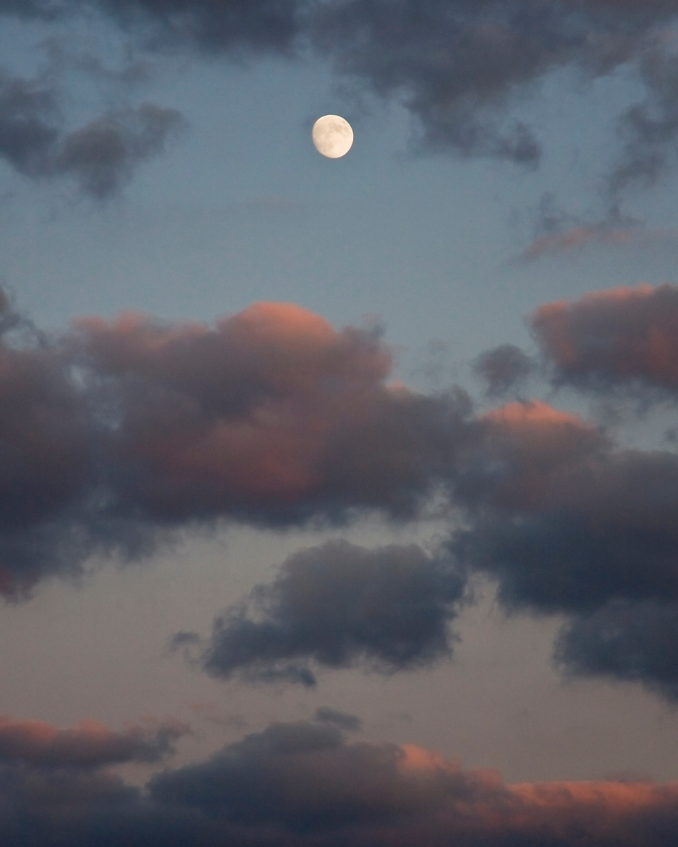 Moonrise at Sunset